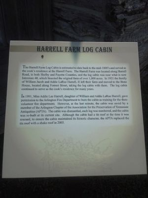 Harrell Farm Log Cabin Marker image. Click for full size.