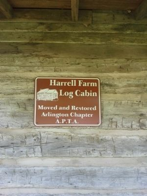 Harrell Farm Log Cabin Secondary Marker image. Click for full size.