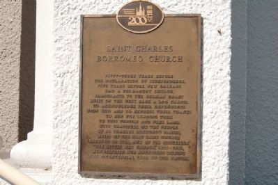 Saint Charles Borromeo Church Marker image. Click for full size.
