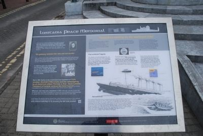 New Lusitania Peace Memorial Marker image. Click for full size.
