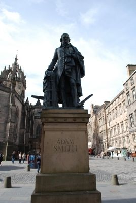 Adam Smith Statue Marker image. Click for full size.