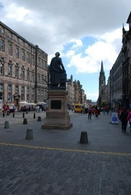 Adam Smith Statue from Rear image. Click for full size.