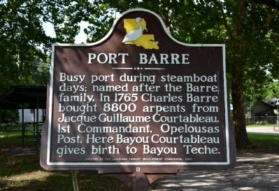 Port Barre Historical Marker image. Click for full size.