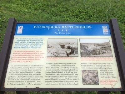 Petersburg Battlefields Marker image. Click for full size.
