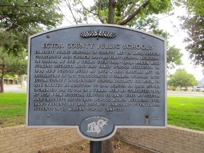 Ector County Public Schools Marker image. Click for full size.