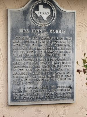 Mrs. John L. Morris Marker image. Click for full size.