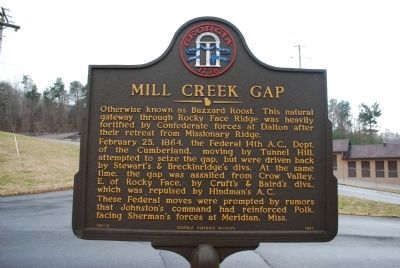 Mill Creek Gap Marker Photo, Click for full size