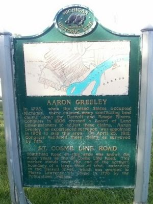 Aaron Greeley / St Cosme Line Road Marker image. Click for full size.