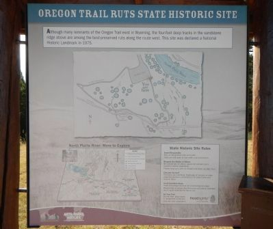 Oregon Trail Ruts State Historic Site panel image. Click for full size.
