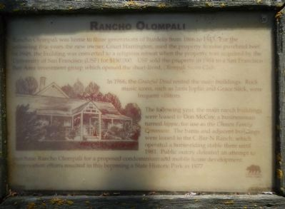 Rancho Olompali Marker image. Click for full size.