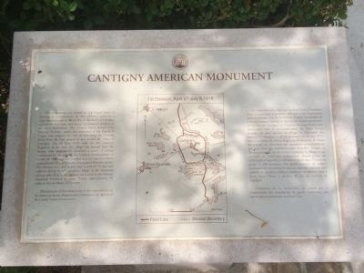 Cantigny American Monument Marker image. Click for full size.