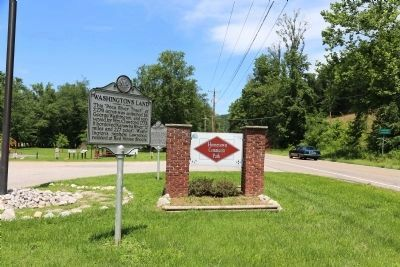 Washington's Land Marker at Hometown Community Park image. Click for full size.