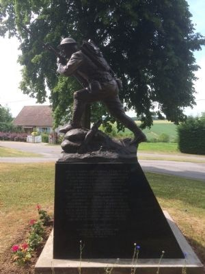 28th Infantry Regiment Monument Marker - French Side image. Click for full size.