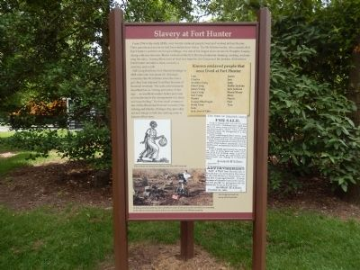 Slavery at Fort Hunter Marker image. Click for full size.