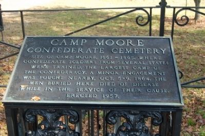 Camp Moore Confederate Cemetery Marker image. Click for full size.