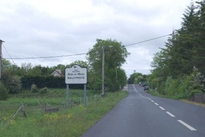 Ballymote Town Sign image. Click for full size.