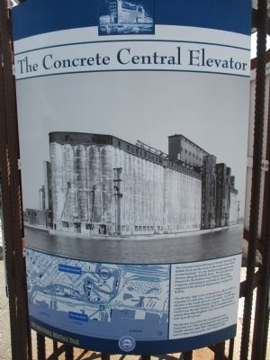 The Concrete Central Elevator Marker image. Click for full size.