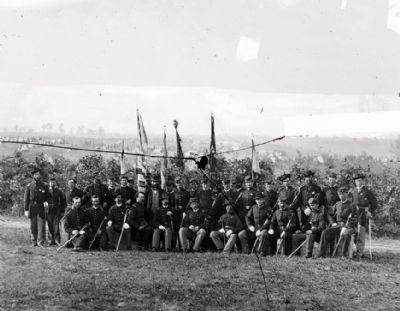 <i>Lt. Col. James J. Smith and officers of 69th New York Infantry (Irish Brigade)</i> image. Click for full size.