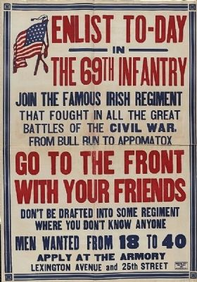 <i>Enlist to-day in the 69th infantry Join the famous Irish regiment…</i> image. Click for full size.