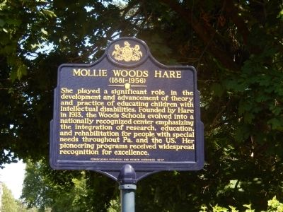 Mollie Woods Hare Marker image. Click for full size.