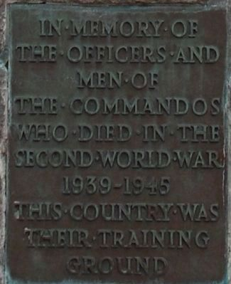 The Commando Memorial Marker image. Click for full size.