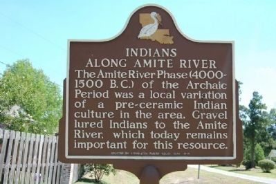 Indians Along the Amite River Marker image. Click for full size.