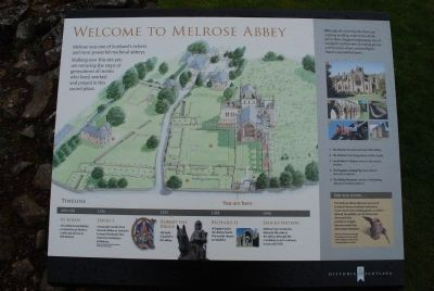 Melrose Abbey Information image. Click for full size.