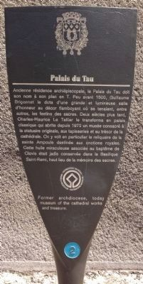 Palais du Tau Marker image. Click for full size.