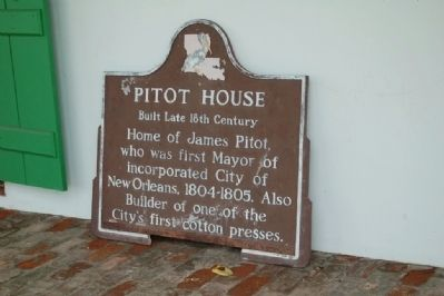 Pitot House Marker image. Click for full size.