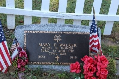 Doctor Mary Walker's Gravestone image. Click for full size.