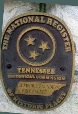 "Clarence Saunders' ""Pink Palace"" National Register Marker image. Click for full size."