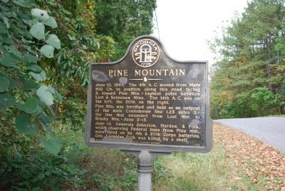Pine Mountain Marker Photo, Click for full size