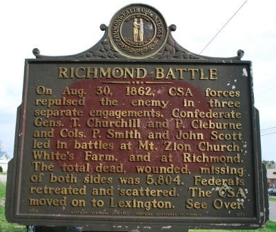 Richmond Battle (side of the marker) image. Click for full size.