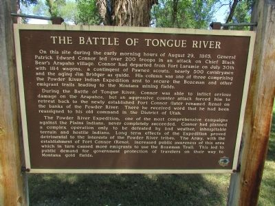 The Battle of Tongue River Marker image. Click for full size.