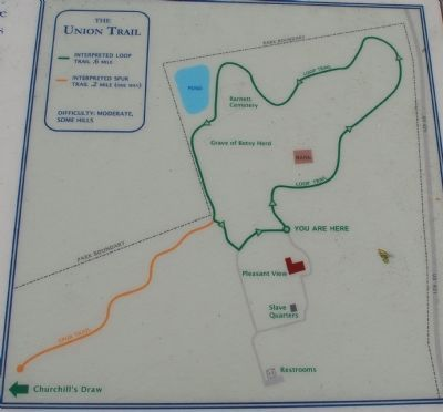 The Union Trail Marker Map image. Click for full size.