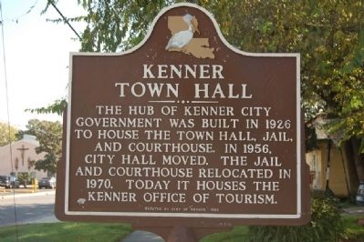 Kenner Town Hall Marker image. Click for full size.