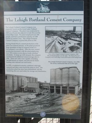The Lehigh Portland Cement Company Marker image. Click for full size.