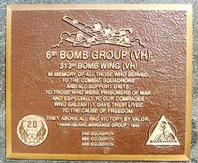 6th Bomb Group (VH) Marker image. Click for full size.