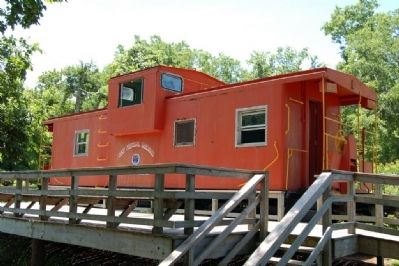 West Feliciana Railroad Caboose at marker location image. Click for full size.