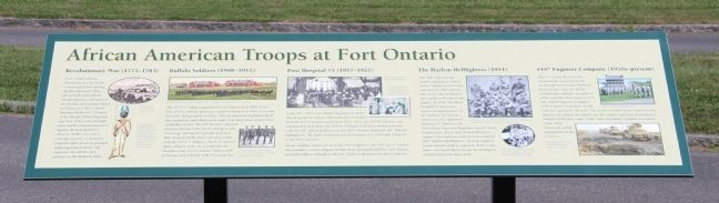African Troops at Fort Ontario Marker image. Click for full size.