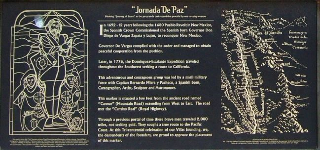 """Jornada de Paz"" Face of Marker image. Click for full size."