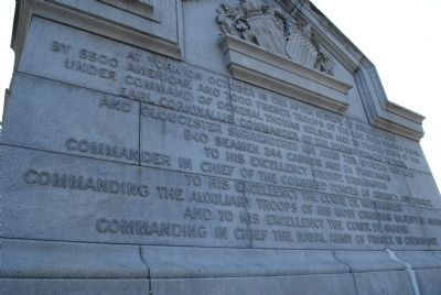 Yorktown Victory Monument Marker image. Click for full size.