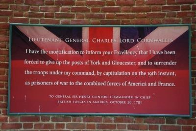 Lieutenant General Charles Lord Cornwallis image. Click for full size.
