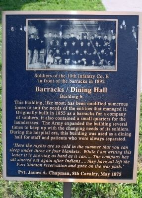 Barracks / Dining Hall Marker image. Click for full size.