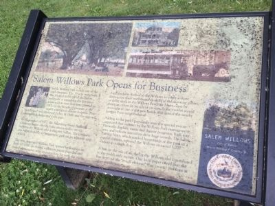 Salem Willows Park Opens for Business Marker image. Click for full size.