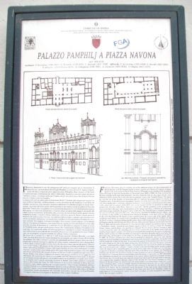 Pamphilj Palace on Navona Square Marker image. Click for full size.
