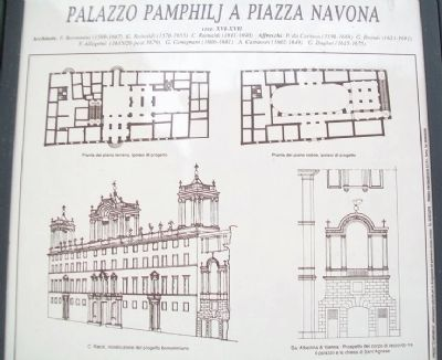 Detail on Pamphilj Palace on Navona Square Marker image. Click for full size.