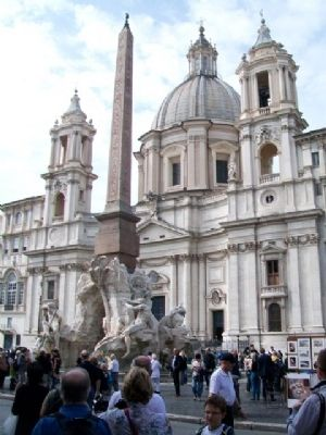 Church of St. Agnes in Agony and Egyptian Obelisk on Navona Square image. Click for full size.