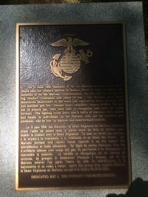 Belleau Wood USMC Interpretive Panel #4 Marker image. Click for full size.