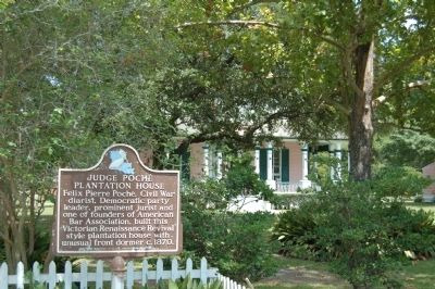 Judge Poche Plantation House Marker image. Click for full size.